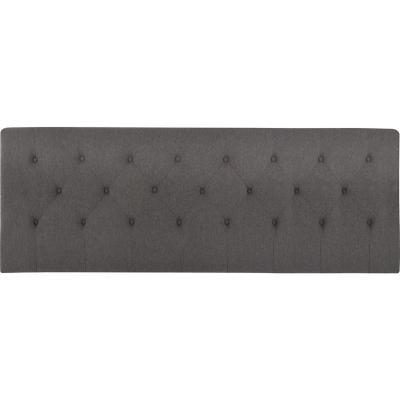 Respaldo king 190x128x10 cm gris/grafito