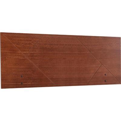 Respaldo 2 plazas 150x49x1,5 cm marrón envejecido
