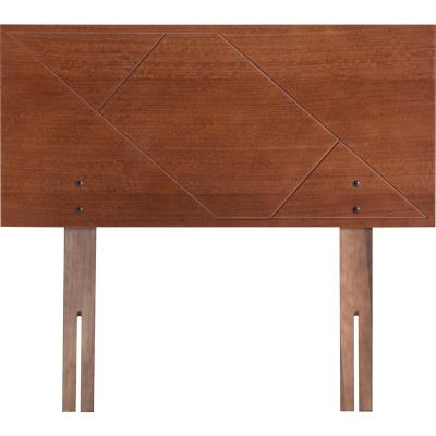 Respaldo 1,5 plazas 114x49x1,5 cm marrón envejecido