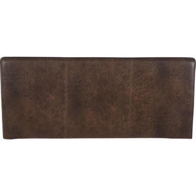 Respaldo 2 plazas 160x70x6 cm marrón envejecido