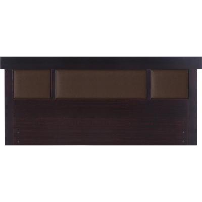 Respaldo 2 plazas 165x60x3 cm chocolate