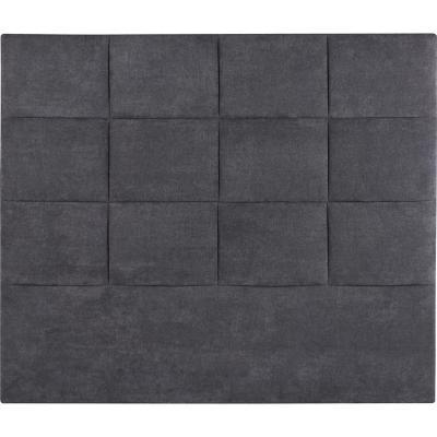 Respaldo super king 215x140x6 cm gris grafito