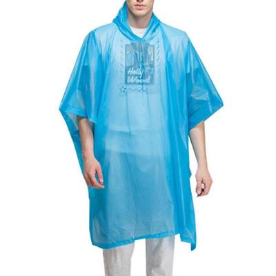 Poncho outdoor impermeable adulto celeste