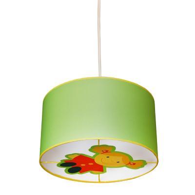 Lámpara colgante infantil metal Doll Verde
