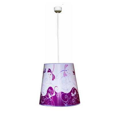 Lámpara colgante metal Libélulas Rosadas 1 luz E27