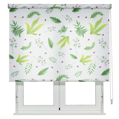 Cortina enrollable Forest 150x250 cm blanco/verde
