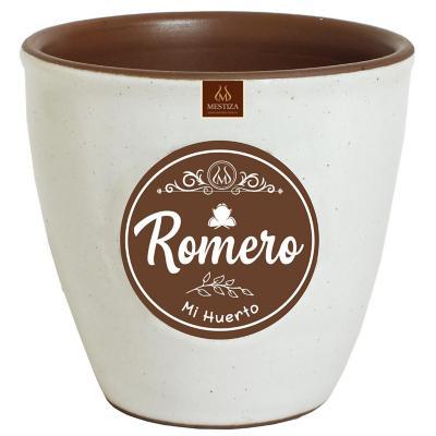 Macetero zafiro ceramica 14x12 cm café romero