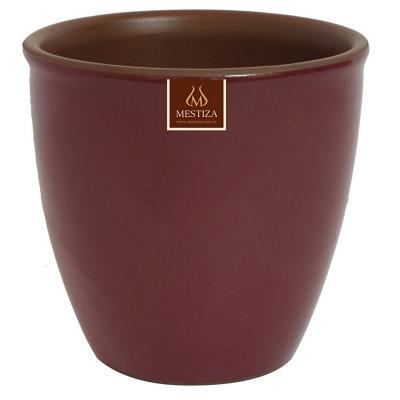 Macetero zafiro ceramica 17x16 cm burdeo