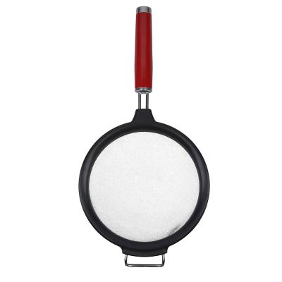 Colador con mango Rojo Acero 17,5 cm