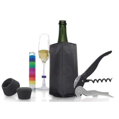 Set 5 Accesorios de Vino Negro