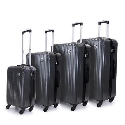 Set 3 maletas f tokio 355 l gris hardside rígida
