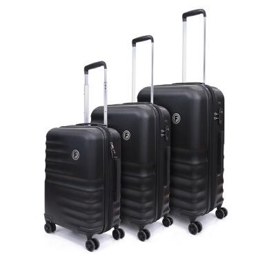 Set 3 maletas f aero race 220 l negro hardside rígida