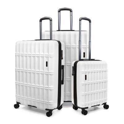 Set 3 maletas f data 235 l blanco hardside rígida