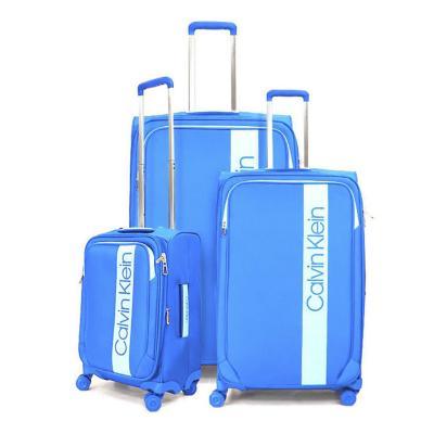 Set 3 maletas park lane 200 l azul poliéster suave