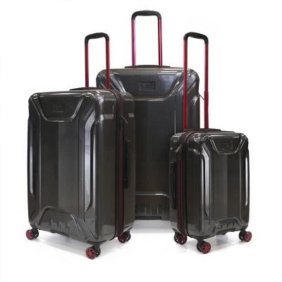 Set 3 maletas harold 235 l rojo hardside rígida