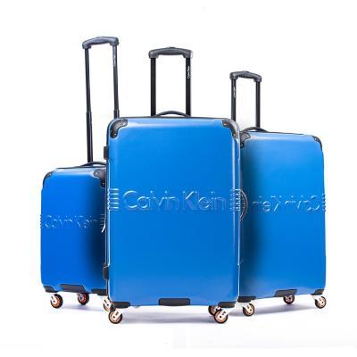Set 3 maletas delancy 220 l azul hardside rígida