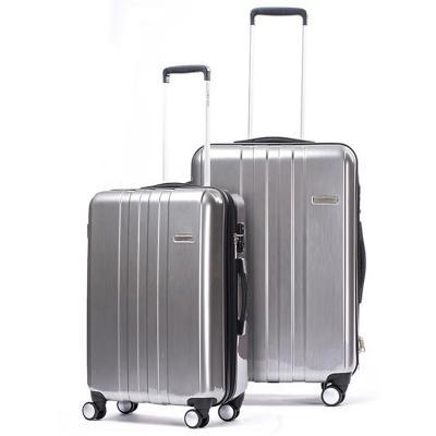 Set 2 maletas bridge hampton 180 l gris hardside rígida