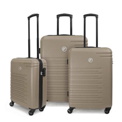Set 3 maletas 195 l café ABS rígida