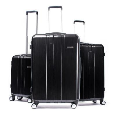 Set 3 maletas 220 l negro hardside rígida