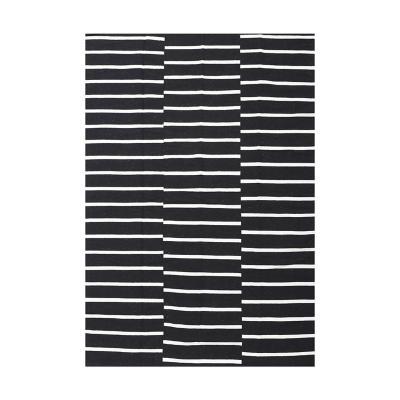 Alfombra rustic 190x290 cm lineas blanco/negro