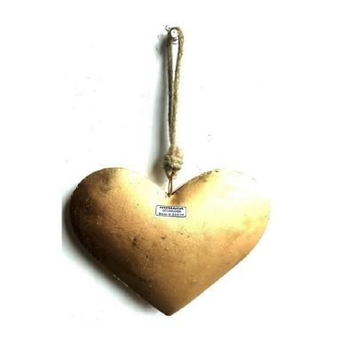 Corazón Colgante Dorado 25x8x38 cm dorado