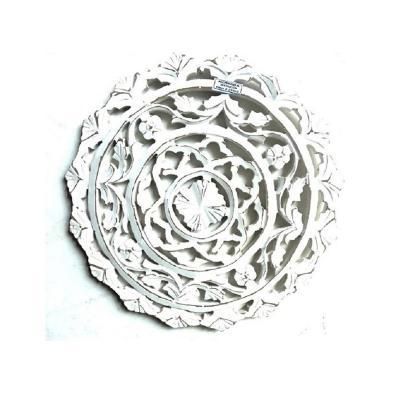Mandala Pared Redondo 41x2,5x41 cm blanco