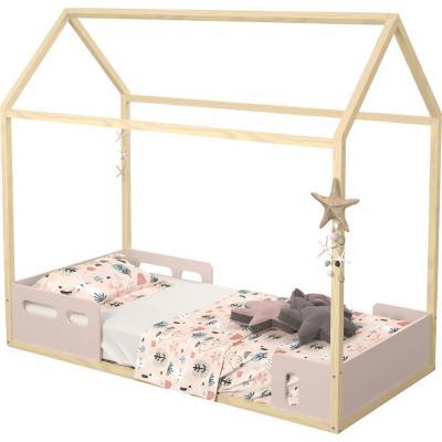 Cama casita 79x146x157 cm rosada