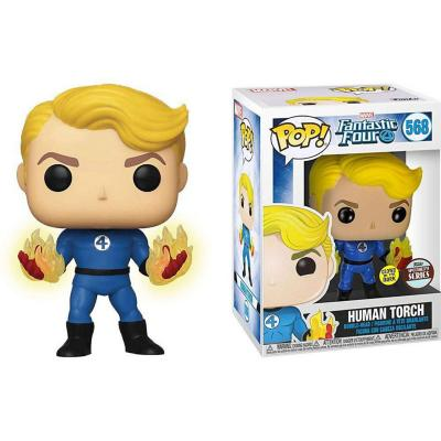 Figura Pop Marvel Fantastic Four Human Torch Suited