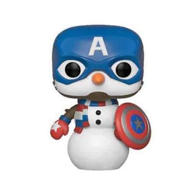 Figura Pop Marvel Holiday Capt America