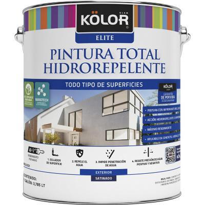 Pintura total hidrorepelente satín base pastel 1 galón