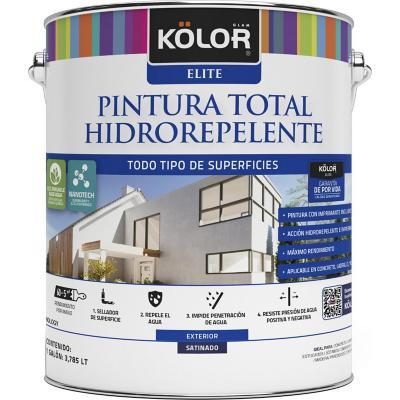 Pintura total hidrorepelente satín base tint 1 galón