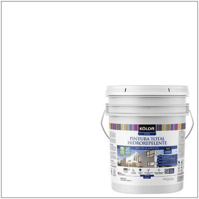 Pintura total hidrorepelente satín blanco 5 galón