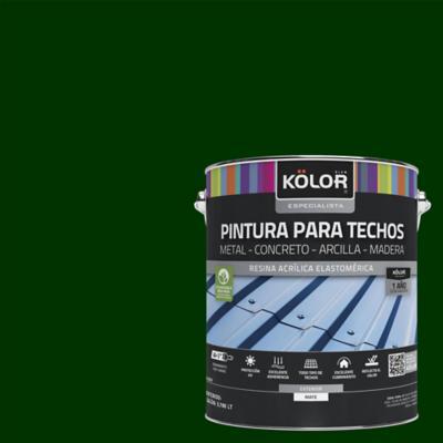 Pintura para techos verde 1 galón