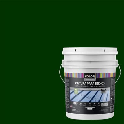 Pintura para techos verde 5 galones