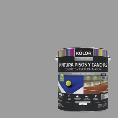 Pintura pisos y canchas gris 1 galón