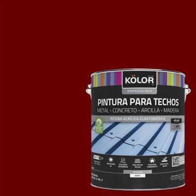 Pintura para techos rojo 1 galón