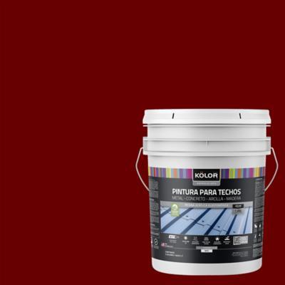 Pintura para techos rojo 5 galones