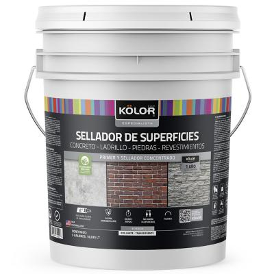 Sellador superficies transparente brillante 5 galones