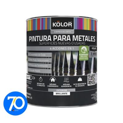 Pintura para metales base accent 1 litro