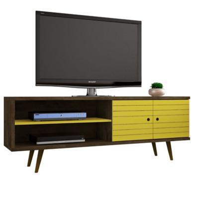 Rack TV 70¿ onix rústico amarillo 65x160x39 cm
