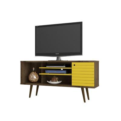 """Rack TV 55"""" safira rústico amarillo 68x135x36 cm"""