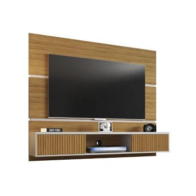 "Panel rack TV 65"" canela ripado 136x160x35 cm"