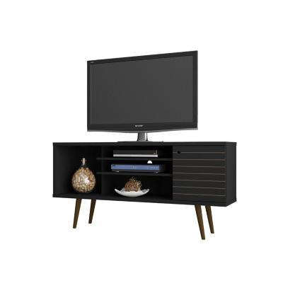 "Rack TV 55"" safira negro 68x135x36 cm"