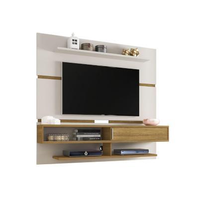 Panel rack TV 65¿ blanco invierno 167x180x34 cm