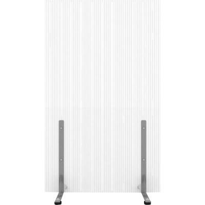 Biombo 105x200 cm transparente c/tope