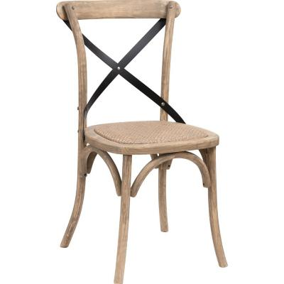 Silla Comedor Crossback 88x55x53 cm Café