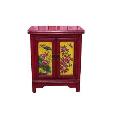 Mueble Tibetano Madera 56x35x68 cm rojo