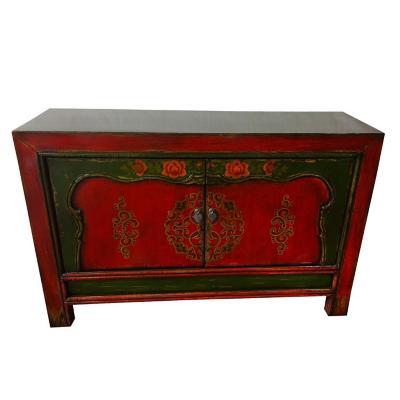 Buffet Tibetano Madera 129x40x83 cm rojo