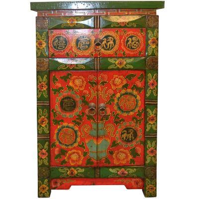 Mueble Tibetano Madera 46x37x72cm verde