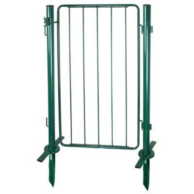 Puerta modular con postes metal 100x60 cm verde